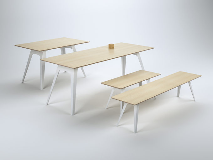 Table Ferdinand with benches