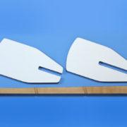 Eckregal Paddle auseinandergebaut
