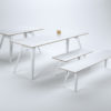 Table Ferdinand with benches Ferdinand in white